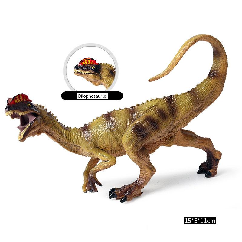 Fantarea Dinosaur World Simulated Figures Action Collection Model Kid Toys Dilophosaurus