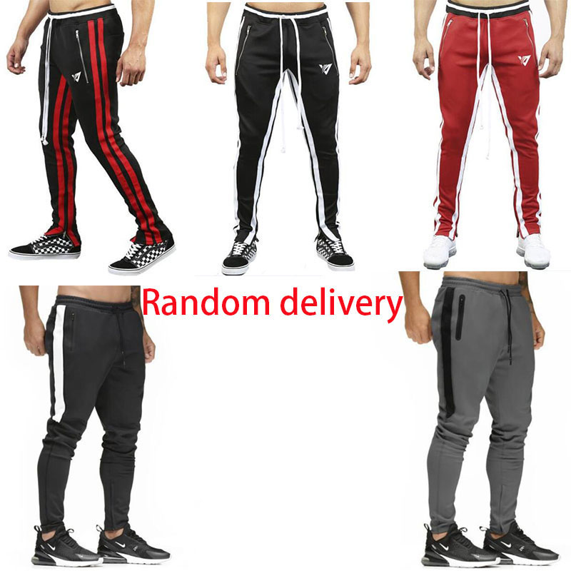 2019 Fashion Men  Pants Joggers Fitness Casual Long Pants Men Workout Skinny Sweatpants Jogger Tracksuit Cotton Trousers