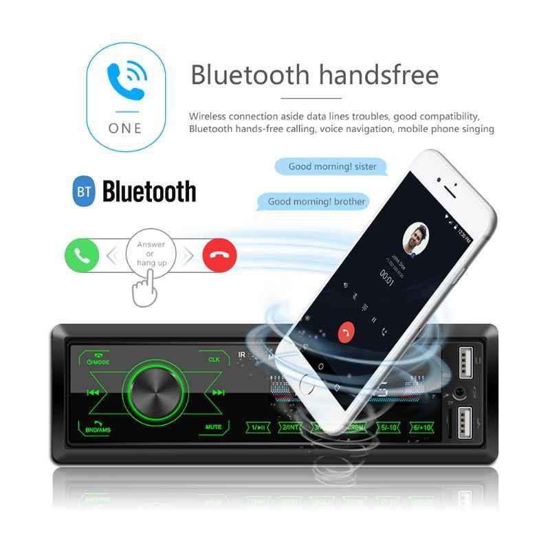M10 LCD Xe MP3 Người Chơi Dual USB Bluetooth4.0 Loa Thẻ TF U Đĩa AUX FM Radio Axyb