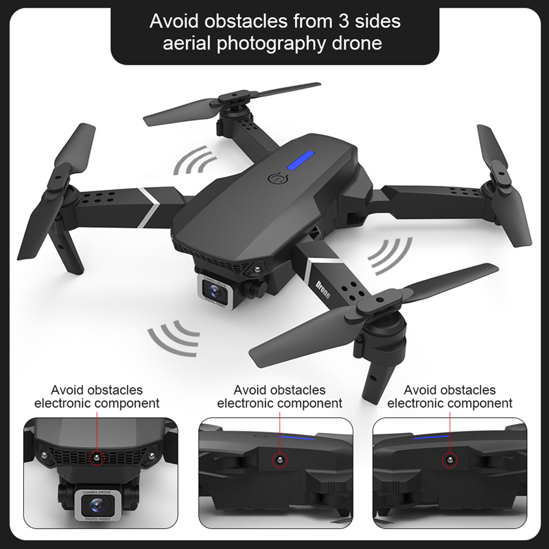 E525 PRO 4K Mini Drone Profissional Obstacle Avoidance Dual Camera Fixed Height RC Quadcopter Dron Helicopter FPV 2