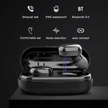 L13 tws fones de ouvido bluetooth 5.0 sem fio à prova dwaterproof água esportes fone cancelamento ruído fone com microfone