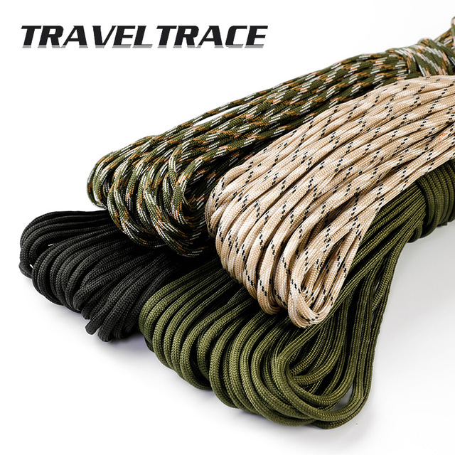 Paracord 550 Military Spec Type 9 Stand 2mm Lanyard Cores Rope Hiking Survival 4mm Parachute Cord Outdoor Clothesline Rescue 5