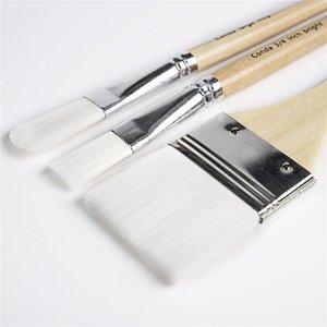 Image 4 - CONDA Paint Brushes 24 Pcs/Set Art Brush Watercolor Oil Acrylic Paints Professional Nylon Short Wood Handle with Brush Case