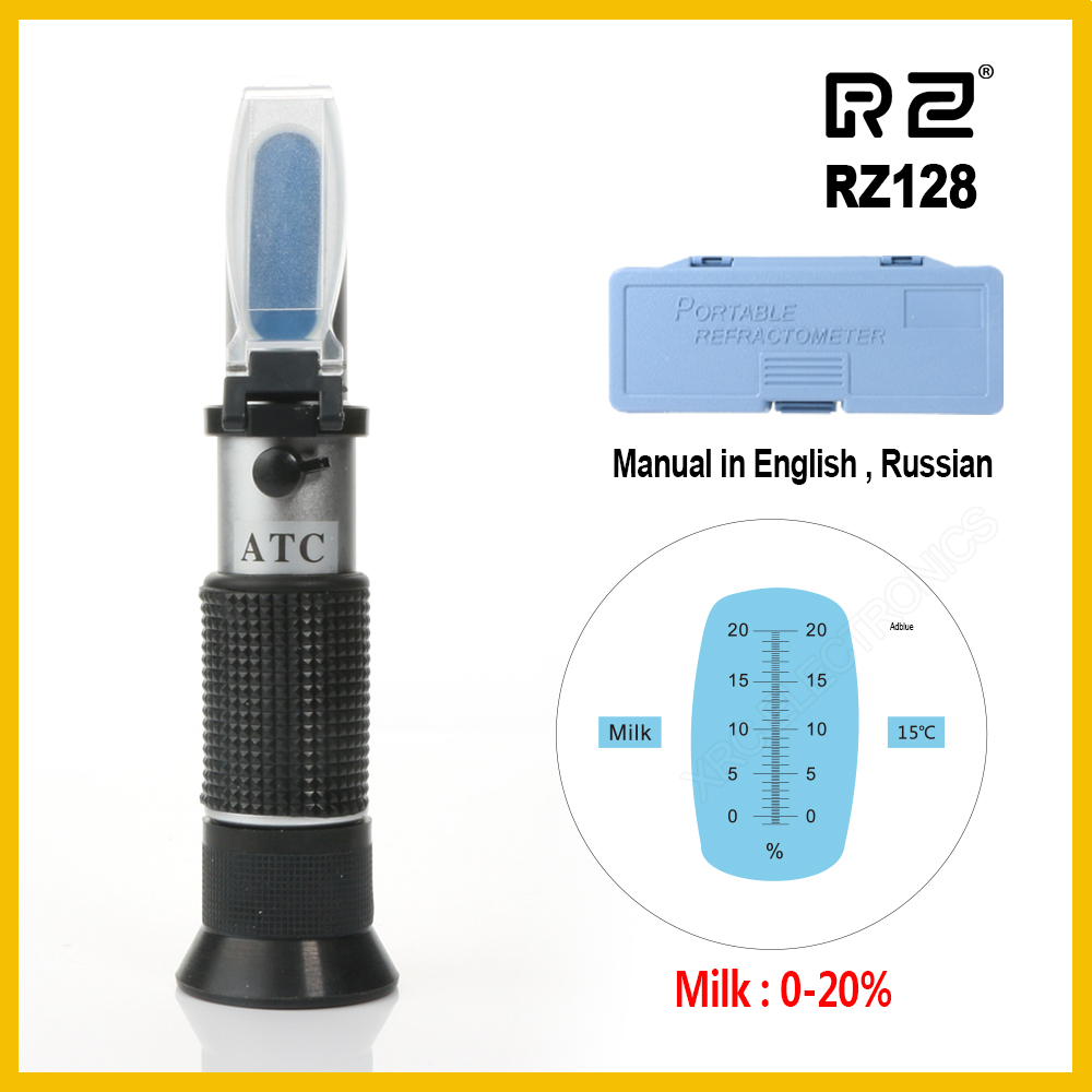 RZ 0-20% Milk Brix Tester Meter ATC   Measurement Accuracy   Milk Refractometer  Handheld Tool RZ128