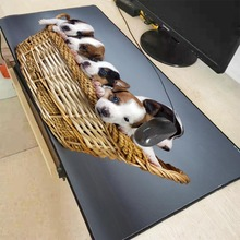 Mairuige Dogs Puppies Basket High Speed New Mousepad Large Gaming Mouse Pad Anti-slip Perfect Locking Edge PC Computer Desk Mat