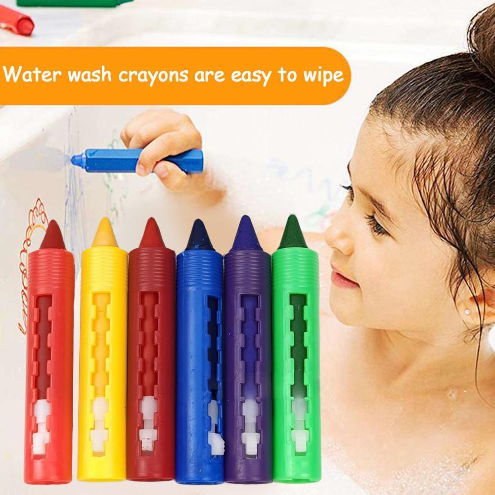 6 шт./компл. цветные карандаши для ванной, легко стираются, карандаши креативного цвета для детей, граффити, живопись, живопись, искусство Sup ...