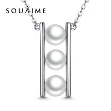 цена Natural White Pearl Necklace Female 925 Sterling Silver Korean Fashion Pendant Jewelry Boutique Clavicle Chain онлайн в 2017 году