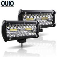 LED Licht Bar 7 zoll 120W Arbeit Licht für Auto Traktor Boot OffRoad Off Road Bus Lkw SUV ATV fahren Lampe 12V 4x4 Zubehör