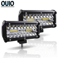 LED Light Bar 7inch 120W Work Light for Car Tractor Boat OffRoad Off Road Bus Truck SUV ATV Driving Lamp 12 Volt 4x4 Accessories