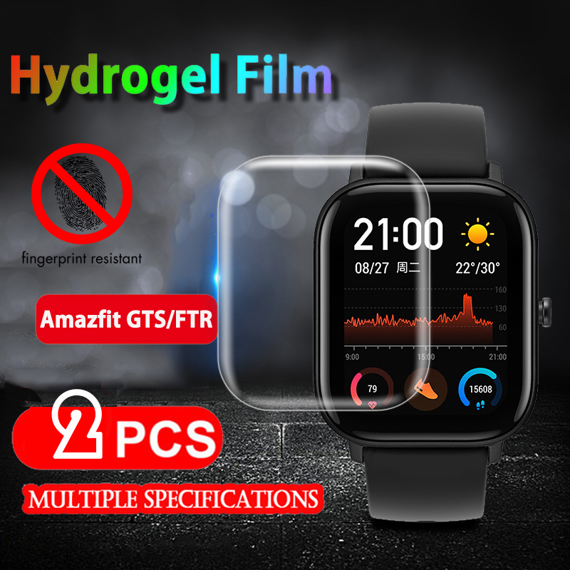 2pcs Soft TPU Clear Screen Protector Guard For Xiaomi Huami Amazfit Bip GTS GTR 42 /47 Pace Watch Protective Film Full Cover