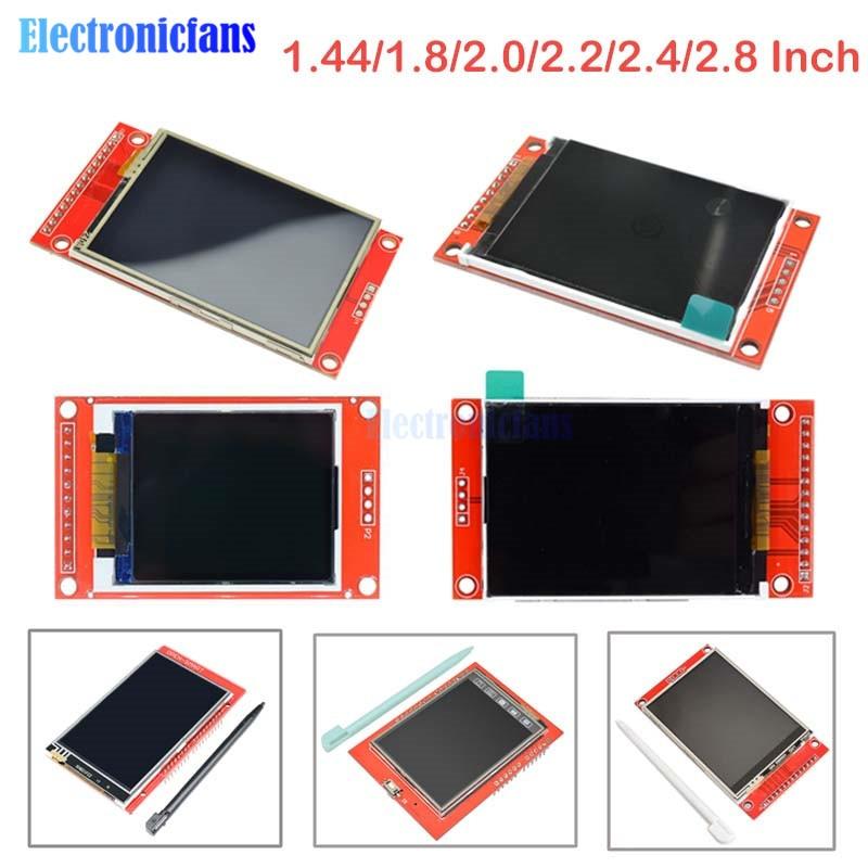 1.44/1.8/2.0/2.2/2.4/2.8 Cal kolorowy ekran TFT o przekątnej moduł wyświetlacza lcd jazdy ST7735 ILI9225 ILI9341 interfejsu SPI 128*128 240*320