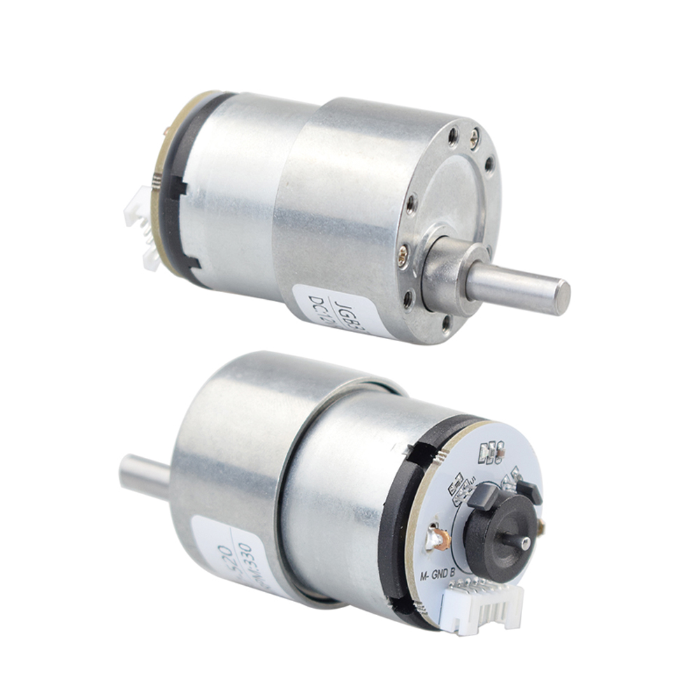 Moebius 12V DC 330rpm High Torque Motor with Speed Encoder Can Measure Speed and Feedback for RC Mecanum Robot Car Chassis