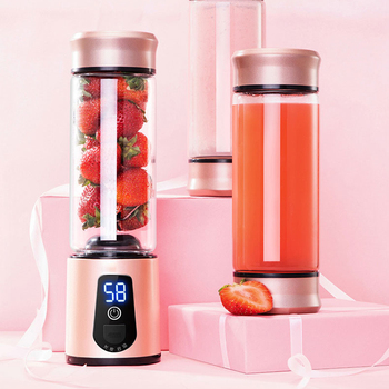 portable electric usb  juicer and usb mini personal blender fruit extractor with led