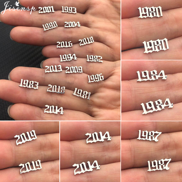 Jisensp Stainless Steel Number Stud Earrings Women Men Birthday Gift Custom Jewelry Earing Year 1980 to.jpg 640x640 - Jisensp Stainless Steel Number Stud Earrings Women Men Birthday Gift Custom Jewelry Earing Year 1980 to 2019 Personalized Gift