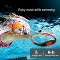 003 Водонепроницаемый IPX8 беспроводной MP3-плеер для дайвинга, плавания, серфинга, FM-радио, 8 ГБ, Bluetooth-гарнитура, музыкальный плеер