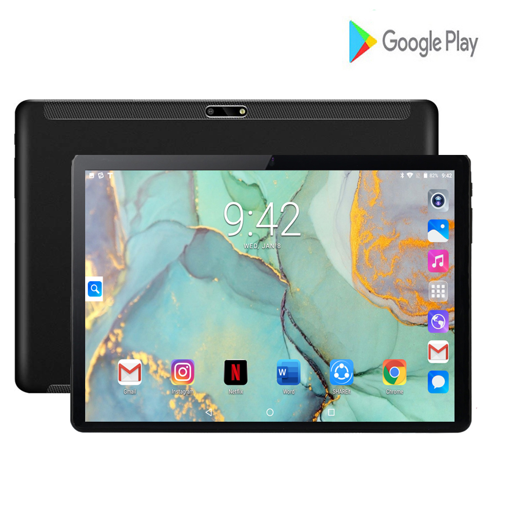 New 10 Inch Tablet PC 3G Android 7.0 Quad Core Super Tablets Ram 2GB Rom 32GB WiFi GPS 10.1 Tablet IPS T10 Dual SIM GPS Pad