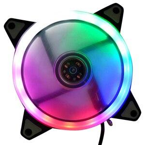 120 мм светодиодный вентилятор охлаждения 12V 4Pin для 3Pin цветная (RGB) Крайне низкий уровень шума компьютера ПК Процессор кулер новое поступление