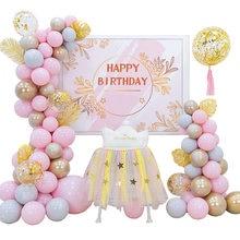 Мульти-Цвет Цвета: розовый и темно-синий синий шар комплект гирлянды как фон для дня рождения Детские Свадебные душ вечерние украшения