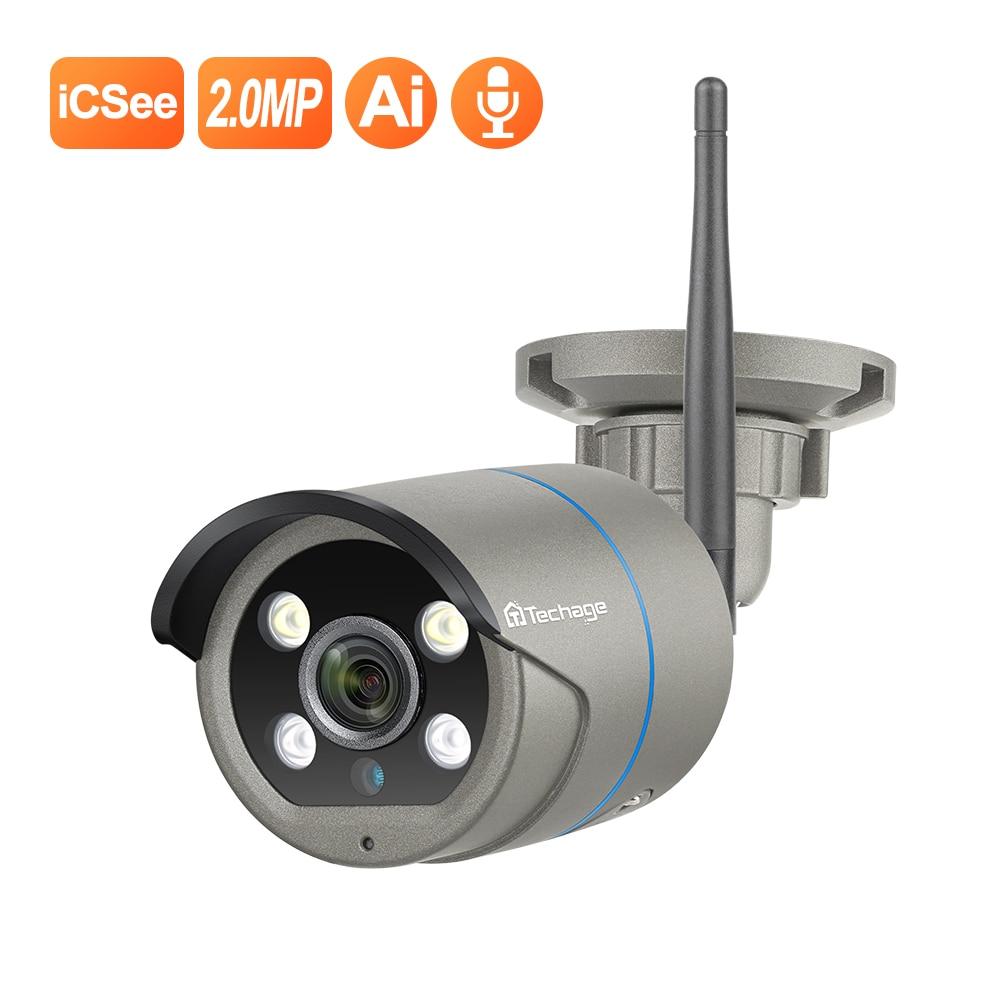 Techage 1080P bezprzewodowa kamera IP człowieka wykrywanie ruchu dwukierunkowy dźwięk na świeżym powietrzu bezpieczeństwo w domu kamera przemysłowa CCTV kamera karty SD