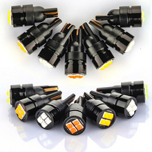 T10-3030-4SMD Car LED Lamp Signal Light Clearance Lights Width License Plate Bulb Lamp Reading Lights Super Bright 1pcs t10 5050 6smd led car canbus no error width license plate light bulb tail side turn signal lamp super bright orange lights
