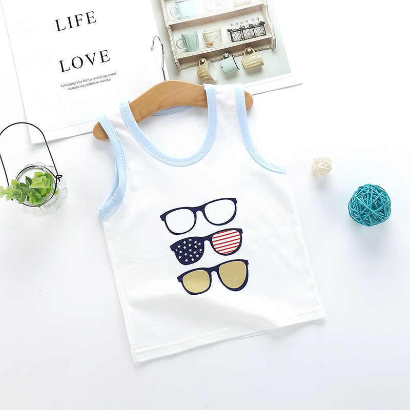 Baby Boys Girls Kids Vest Summer Cotton Baby Jacket Bottom Shirt Children's Fashionable Thin Clothes