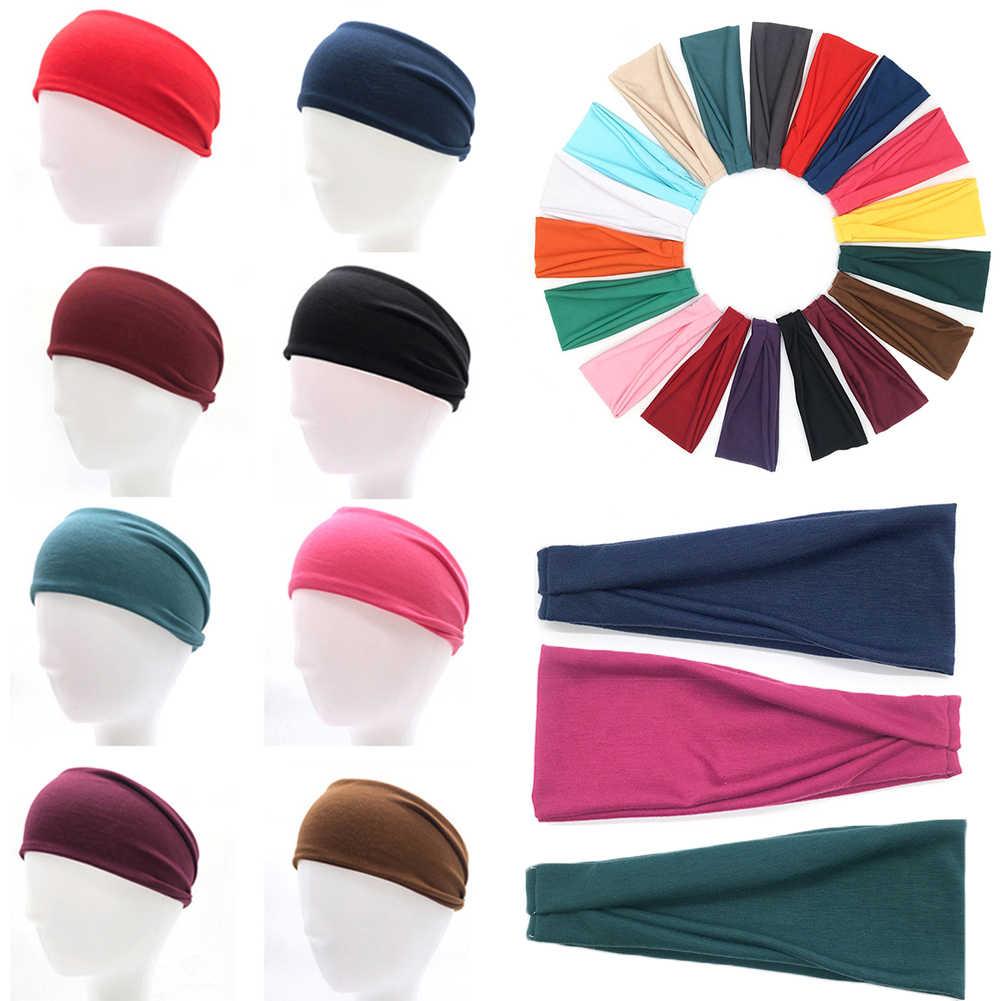 2019 Baru Wanita Katun Elastis Karet Rambut Kepala Band Olahraga Yoga Headband Leher Bungkus Kepala Syal Topi 2 In 1 Bandana aksesoris Rambut