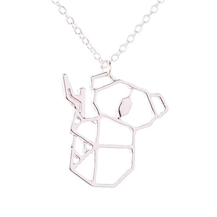 Bonito collar con forma de Koala a la moda, pulsera geométrica de 45 + 5 cm, 1 colgante informal de joyería sólida, ninguno 1 collar de regalo