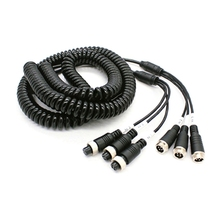 Vehicle Monitoring 8M Three-To-Three Aviation Telescopic Cable Cable PU Trailer Spring Cable for Car Camera