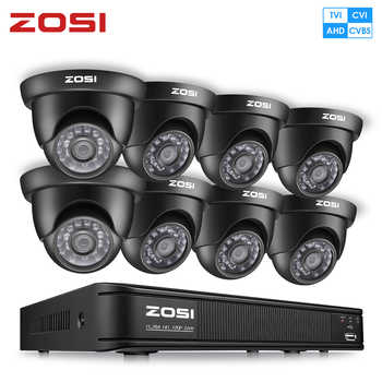 ZOSI 8CH CCTV System Set 1080N AHD TVI DVR 8PCS 1280TVL IR Outdoor Security Camera System videcam Video Surveillance DVR Kit - DISCOUNT ITEM  35 OFF Security & Protection
