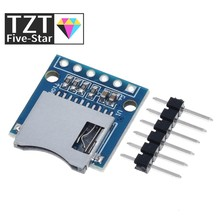 TZT Micro SD Storage Expansion Board Mini Micro SD TF Card Memory Shield Module With Pins for Arduino ARM AVR