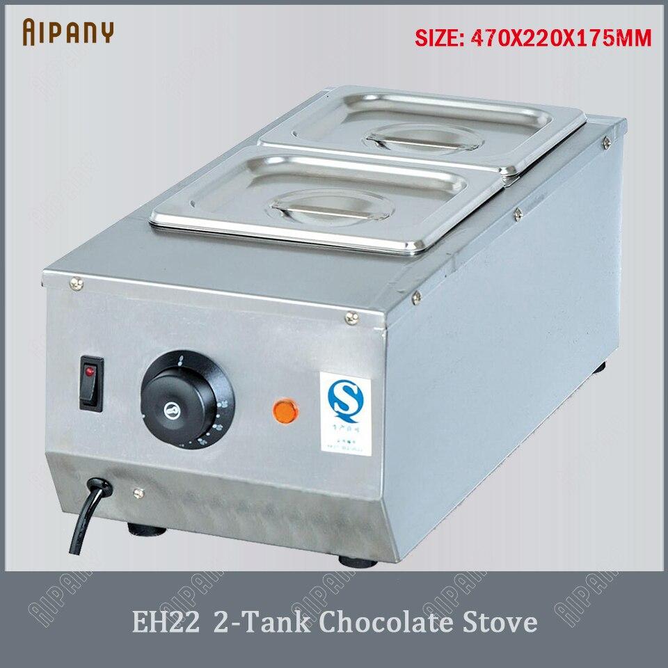 EH22 2/3/4 tanques elétrica fogão de chocolate caldeirão de chocolate forno de aço inoxidável comercial chocolate quente bain marie