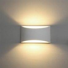 مصباح جبس عصري مصنوع يدويًا على الجدار شمعدان LED مثبت على الحائط بقدرة 110 فولت 220 فولت مصابيح جدارية داخلية لغرفة المعيشة