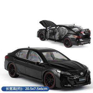 1/24 Toyota Eighth Generation Camry Metal Die Cast Toy Car Alloy Collection Pull Back Sound Light Model Vehicle For Kids Toys
