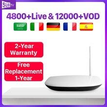 Q1304 IPTV Arabic France Rk3229 Android Tv Box Receiver 8.1 4k Full HD SUBTV Portugal Turkey Subscription IP TV