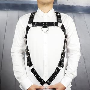 Image 1 - Leather Harness Belt Man Bdsm Bondage Pastel Goth Fantazi Seks gg Belt Gothic Punk Cinturon Mujer Wedding Garter Suspenders