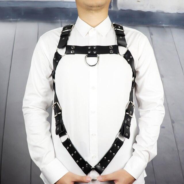 Leather Harness Belt Man Bdsm Bondage Pastel Goth Fantazi Seks gg Belt Gothic Punk Cinturon Mujer Wedding Garter Suspenders