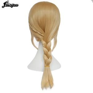 Image 4 - Ebingoo волос Кепки + футболка с изображением героев мультфильма «Как приручить дракона 2» Астрид блондинка длинные тесьма искусственные Косплэй Для женщин парики для Хэллоуина костюм вечерние