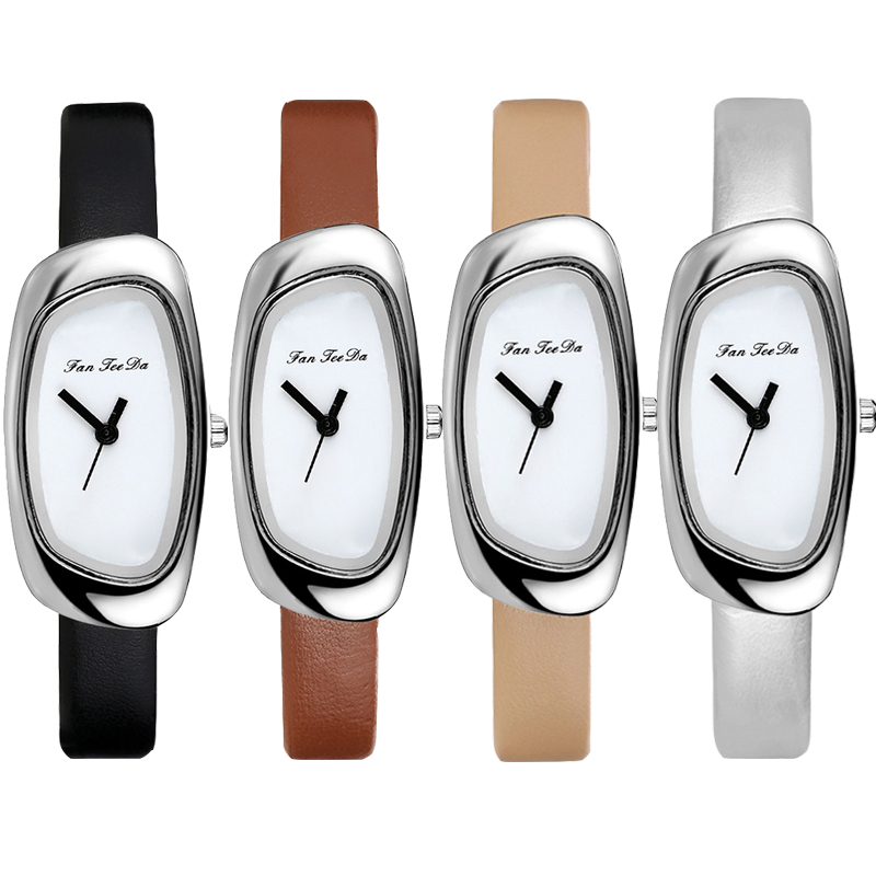 Women's Watches Irregular Square Wristwatch Women Elegant Classics Leather Belt Quartz Watches Ladies Wrist Watch