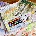 Sakura talens petit cor transparente cor de água sólida pintura gouache 12/18/24/30/48/60/72 cores conjunto fonte arte
