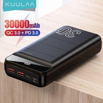 KUULAA Power Bank 30000 мАч QC PD 3,0