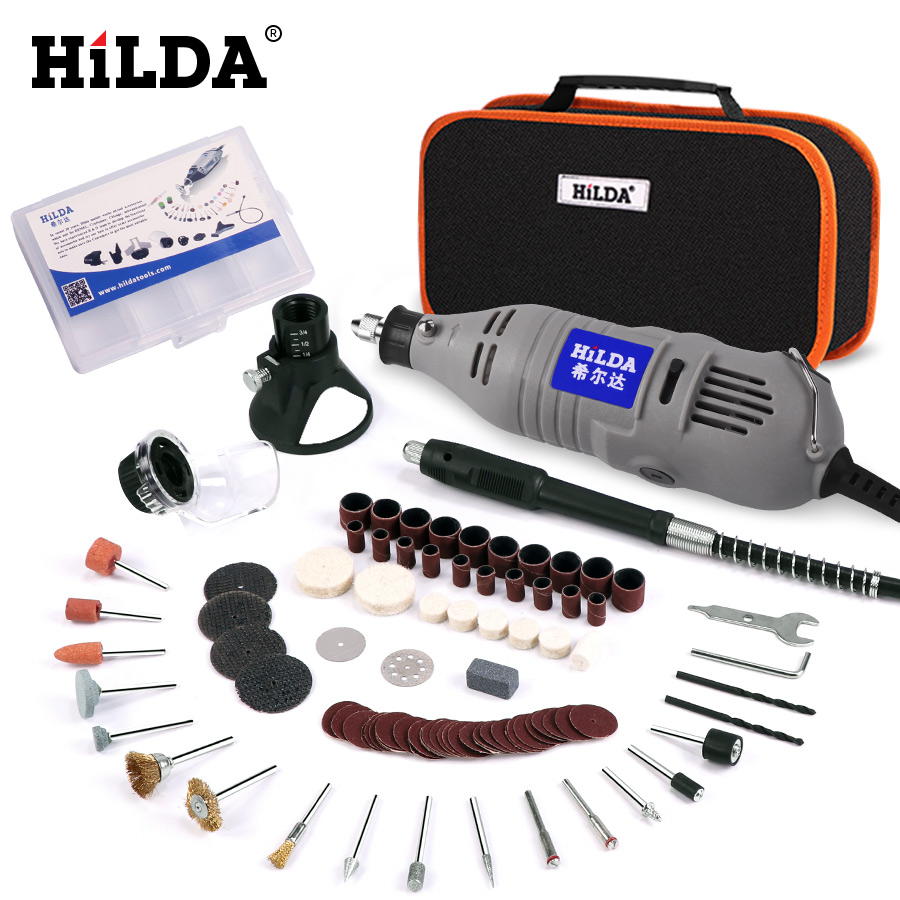 HILDA 150W Electric Drill Grinder Engraving Pen Grinder Mini Drill Electric Rotary Tool Grinding Machine For Dremel Accessories