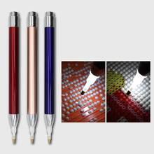 Wiertło punktowe kwadratowy okrągły diamentowy narzędzie do malowania oświetlenie diamentowe długopisy 5D malowanie diamentami akcesoria świąteczny prezent