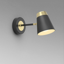 Aisilan luxury wall light brushed black and golden wall lamp bedroom study LED fixture