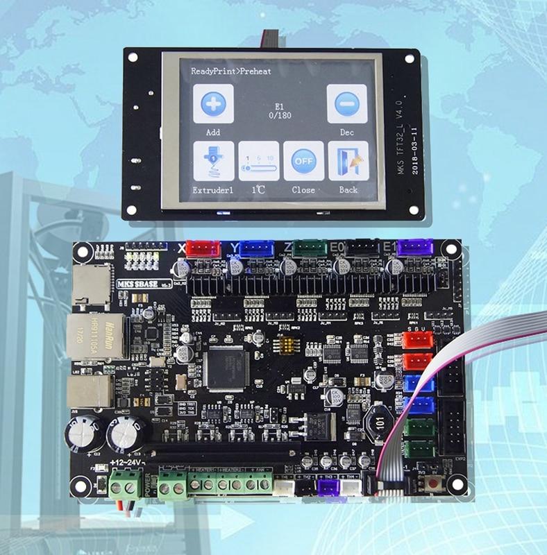 Mks Base 3D Printer 32bit Pcb Mks Sbase V1.3 + Mks TFT32 3.2 ''Lcd Touch Display