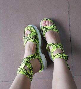 Image 2 - Женские сандалии гладиаторы Perixir, богемные летние сандалии на танкетке с лентами и открытым носком, повседневная обувь из пеньки