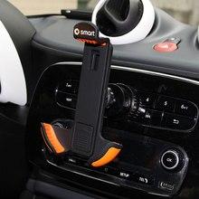 Araba cep telefonu tutacağı Mercedes için yeni akıllı 453 Forfour Fortwo sağlar araba navigasyon şarj desteği cep telefonu