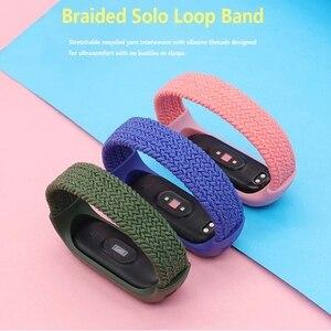 Image 2 - Nylon Braided Strap for Mi band 6 5 4 3 Wristband Sports Breathable Bracelet for Miband 6 5 4 3  Miband6 Miband5 Strap correa