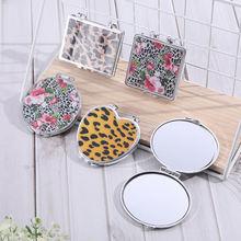 Портативное складное креативное милое зеркало для макияжа домашнее