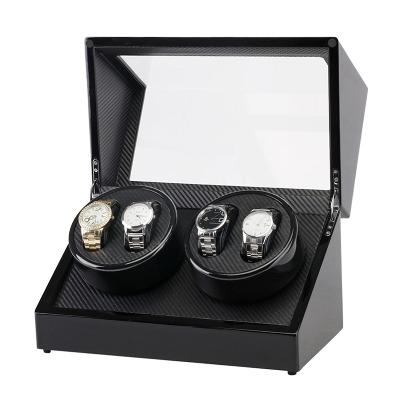 Automatic Mechanical Watch Winder Box Quiet Automatic Wooden Holder Storage Container Organizer Case Gift