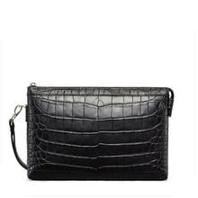 gete new  Thailand import crocodile skin handbag for men  large capacity hand bag crocodile belly bag for men clutch bag все цены